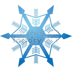 vector snowflake 1 clipart. Commercial use image # 383692