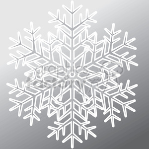 gray vector snowflake clipart. Commercial use icon # 383697