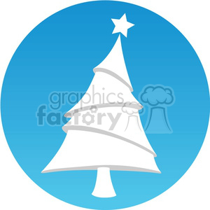 cartoon Christmas tree icon clipart. Royalty-free image # 383707
