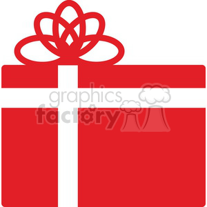 red Christmas gift clipart. Royalty-free image # 383722