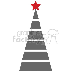 bare Christmas tree design clipart. Royalty-free image # 383727
