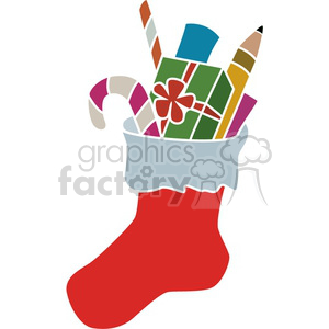 Christmas Holidays vector design Xmas stocking gift gifts present presents candy cane