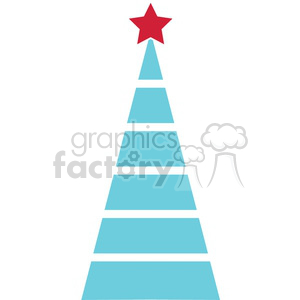 blue Christmas tree design clipart. Royalty-free icon # 383737