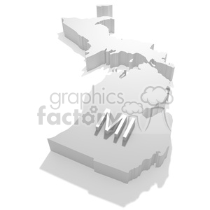 Michigan-MI clipart. Royalty-free image # 383804