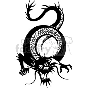 chinese dragons 005 clipart. Royalty-free image # 383851