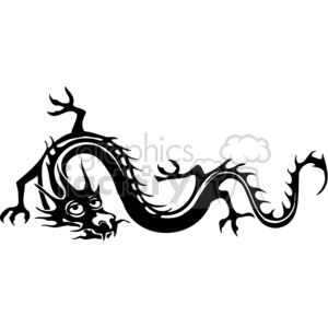 chinese dragons 037 clipart. Royalty-free image # 383856