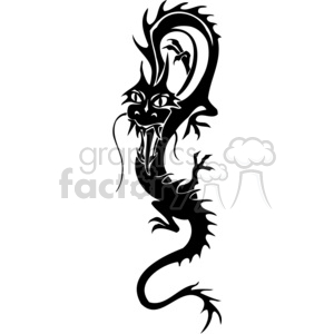 chinese dragons 035 clipart. Commercial use image # 383871