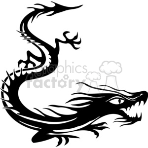 chinese dragons 031 clipart. Royalty-free image # 383876