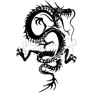 dragon tattoo clipart. Royalty-free image # 383886