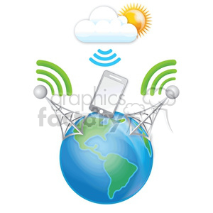 double cell data transfer from the cloud clipart. Royalty-free image # 383914
