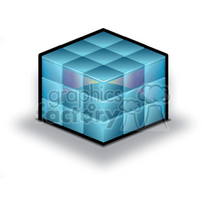 database-data-cube clipart. Royalty-free image # 383924