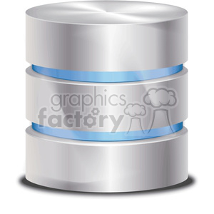 vector database symbol with blue data clipart. Royalty-free image # 383929