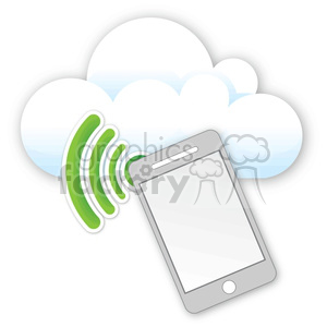 cell phone data cloud clipart. Commercial use image # 383934
