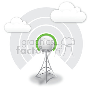 wireless-antenna-1-bar-signal clipart. Royalty-free image # 383949