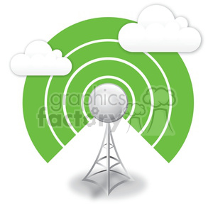 wireless-antenna clipart. Royalty-free image # 383959