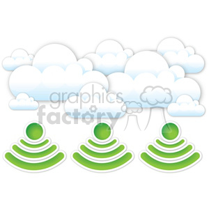 digital wifi data storm clipart. Royalty-free image # 383964