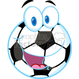 102548-Cartoon-Clipart-Cartoon-Soccer-Ball clipart. Royalty-free image # 384019
