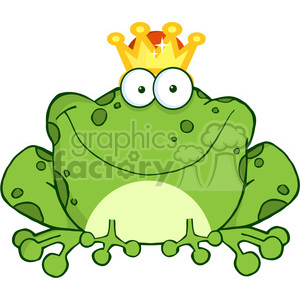 102512-Cartoon-Clipart-Frog-Prince-Cartoon-Character clipart. Royalty-free image # 384084