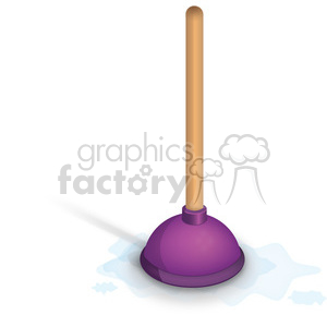 purple plunger clipart. Commercial use image # 384099