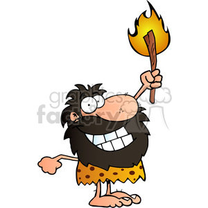 cartoon-caveman clipart. Commercial use image # 384179