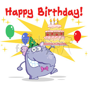 happy-birthday-character clipart. Royalty-free image # 384184
