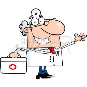 medical-doctor-character clipart. Royalty-free image # 384209