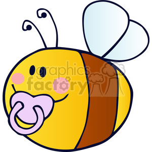 cartoon-baby-bee clipart. Royalty-free image # 384229