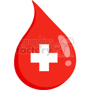 drop-of-blood-red-cross clipart. Royalty-free image # 384239