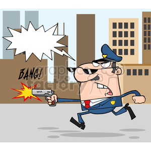 cartoon-police-character clipart. Commercial use image # 384249