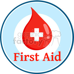 first-aid-blood-drop clipart. Royalty-free image # 384264