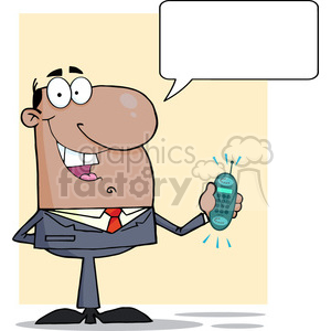 cartoon-sales-pitch clipart. Royalty-free image # 384284