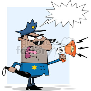 angry-police-office clipart. Royalty-free image # 384302