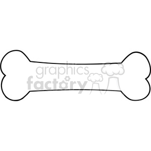 black-white-cartoon-bone clipart. Royalty-free image # 384307