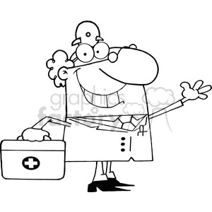 black white cartoon character clipart. Royalty-free image # 384312