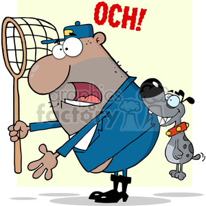 cartoon-dog-catcher clipart. Royalty-free image # 384317