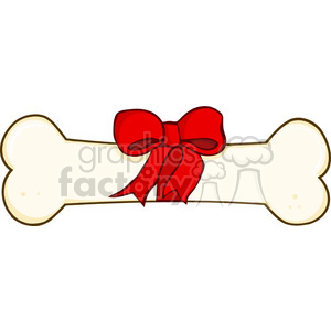bone-wrapped-with-bow clipart. Commercial use image # 384322
