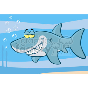 cartoon-shark-underwater clipart. Commercial use image # 384347