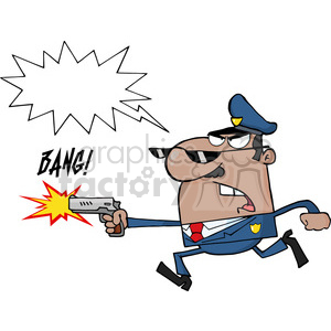 cartoon funny vector comic comical police cop law officer bang shoot shooting speaker megaphone stop abuse guns violence