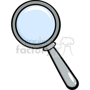 4649-Royalty-Free-RF-Copyright-Safe-Magnifying-Glass clipart. Commercial use image # 384382