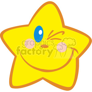 4671-Royalty-Free-RF-Copyright-Safe-Happy-Little-Star-Winking clipart. Royalty-free image # 384392