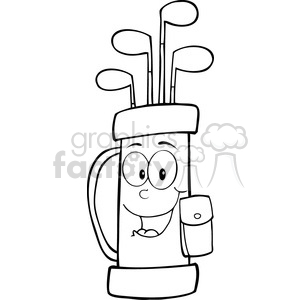 Royalty-Free-RF-Copyright-Safe-Golf-Bag-Cartoon-Character clipart. Royalty-free image # 384437