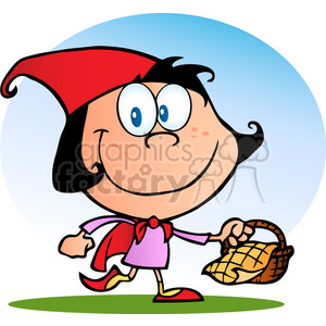 4695-Royalty-Free-RF-Copyright-Safe-Little-Red-Riding-Hood clipart. Commercial use image # 384442