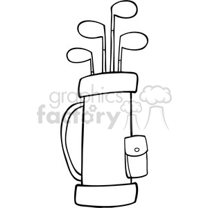 Royalty-Free-RF-Copyright-Safe-Golf-Bag clipart. Royalty-free image # 384492