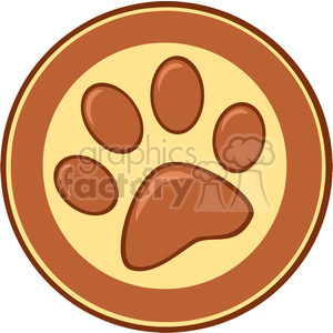 Royalty-Free-RF-Copyright-Safe-Brown-Paw-Print-Banner clipart. Commercial use image # 384502