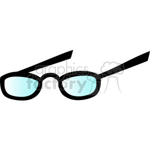 cartoon vector eyeglasses clipart. Royalty-free image # 384512