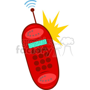 Royalty-Free-RF-Copyright-Safe-Ringing-Red-Cell-Phone clipart. Royalty-free image # 384517