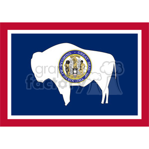 vector state Flag of Wyoming clipart. Royalty-free image # 384551