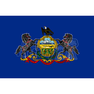 vector state Flag of Pennsylvania clipart. Royalty-free image # 384556