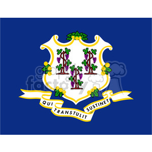 vector state Flag of Connecticut clipart. Commercial use image # 384561
