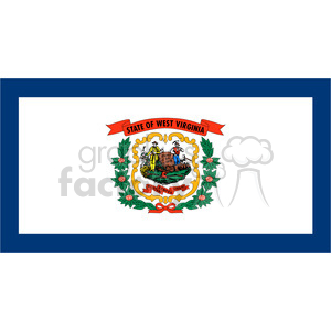 vector state Flag of West Virginia clipart. Royalty-free image # 384571